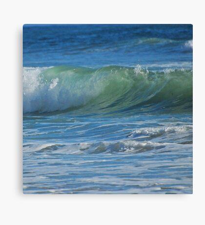 Painterly waves Canvas Print