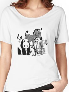 Spots and Stripes Women's Relaxed Fit T-Shirt
