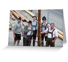 Bavarian People IX Greeting Card