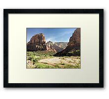 Angels Landing and Zion National Park  Framed Print