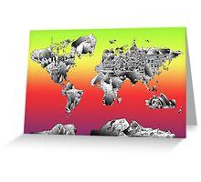 World Map landmarks 4 Greeting Card
