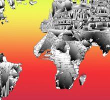 World Map landmarks 4 Sticker