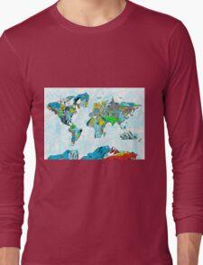 World Map landmarks 5 Long Sleeve T-Shirt
