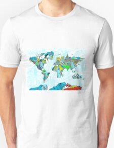World Map landmarks 5 T-Shirt