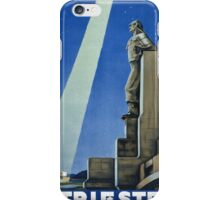 Trieste Italy Vintage Travel Poster Restored iPhone Case/Skin