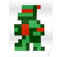 Funny 8 bit Turtle Poster