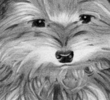 Cute Yorkie Dog Art Sticker