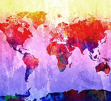World Map watercolor 2 by BekimART