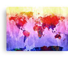 World Map watercolor 2 Canvas Print
