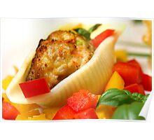 Conchiglie with Pepper Cream and Pepper Tricolore Poster