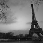 Tour Eiffel - B&W version by Fabio Procaccini