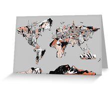 World Map landmarks 6 Greeting Card