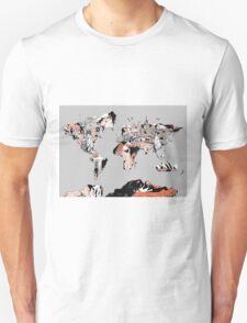 World Map landmarks 6 T-Shirt
