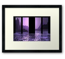 Through the Water Window Framed Print