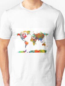World Map watercolor 4 T-Shirt