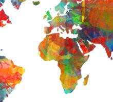World Map watercolor 4 Sticker