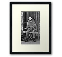 Chinatown Musician with His Erhu Instrument Framed Print