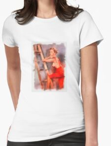 Pin Up 8 by Frank Falcon Womens Fitted T-Shirt