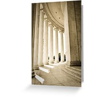 Silence - Jefferson Memorial Greeting Card