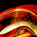 Chihuly Bowl Goldenred by Bob Wall