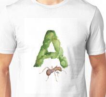 Ant watercolor alphabet painting Unisex T-Shirt