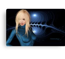 Sci-fi Fanart Wallpaper Design Jessica Alba Canvas Print