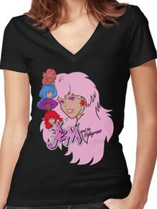 Jem and the Holograms Women's Fitted V-Neck T-Shirt