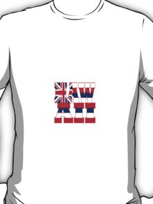 Hawaii state flag typography T-Shirt