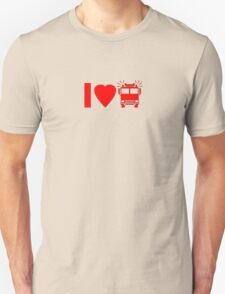 Kids T-Shirt I love Fire Engine Trucks Unisex T-Shirt