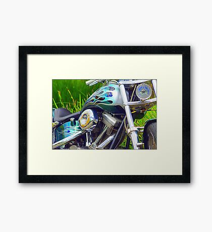 It's Flaming Green Framed Print
