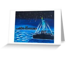 'Liberty at Night' by Lucy Kendrick (2015) Greeting Card