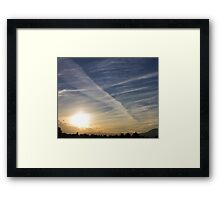 The shapes of sunset Framed Print