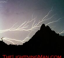 Horizontal Lightning Pinnacle Peak Poster by Bo Insogna