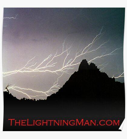Horizontal Lightning Pinnacle Peak Poster Poster
