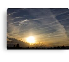 The shapes of sunset Canvas Print
