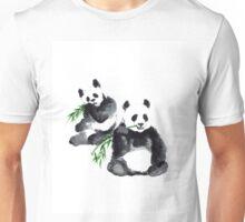 Two pandas watercolor painting Unisex T-Shirt