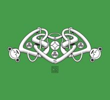 Celtic Triple Heart (white) Kids Clothes
