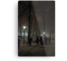 Winter Scene at night, Krakow Metal Print