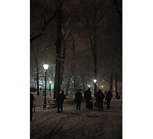 Winter Scene at night, Krakow Photographic Print