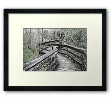 Neglected, Dilapidated Boardwalk Framed Print