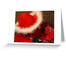 Red Hat & Shawl Greeting Card