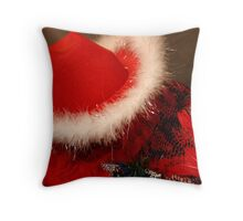 Red Hat & Shawl Throw Pillow