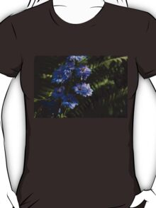 Larkspurs and Ferns - a Lush Summer Garden T-Shirt