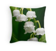 Lily of the Valley (Convallaria majalis) Throw Pillow