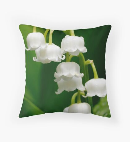 Lily of the Valley (Convallaria majalis) Throw Pillow