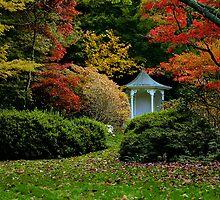 The Gazebo ... Autumn in Mt Wilson by Rosalie Dale