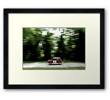Mini Cooper S Print - Classic Rally Car  Framed Print