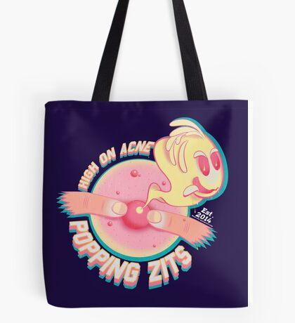 popping zits Tote Bag
