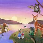 Sunset Gathering by Karen  Hull