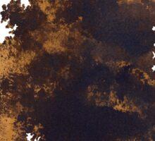 Brown oak minimalist painting Sticker